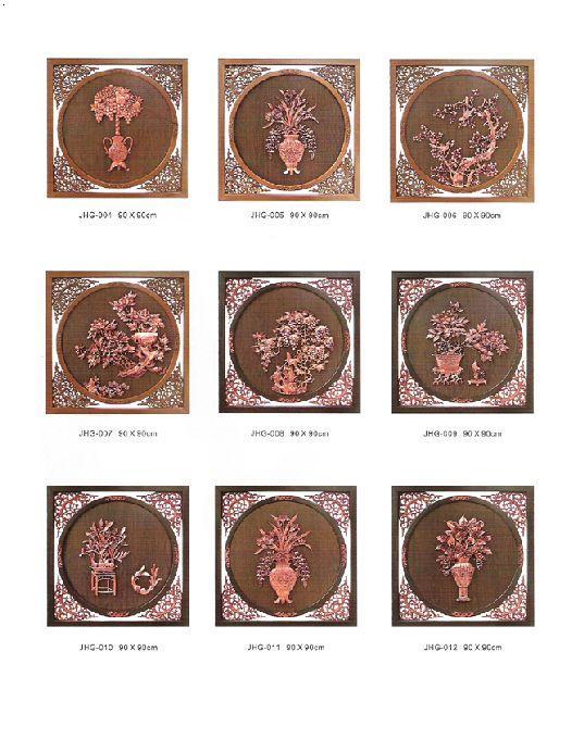 仿铜画制作过程