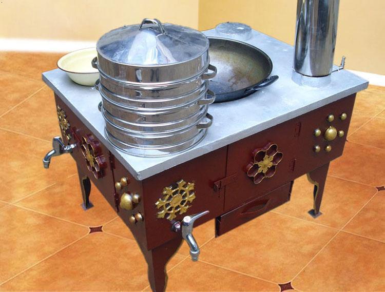 无烟烧柴灶设计图自制烧柴节能灶图片 柴火炉设计图 图片