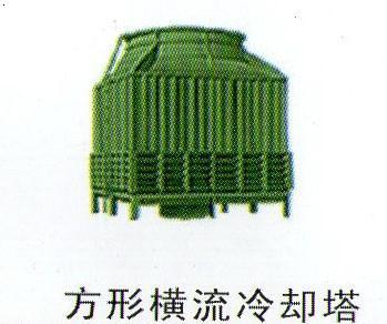 方形横流冷却塔