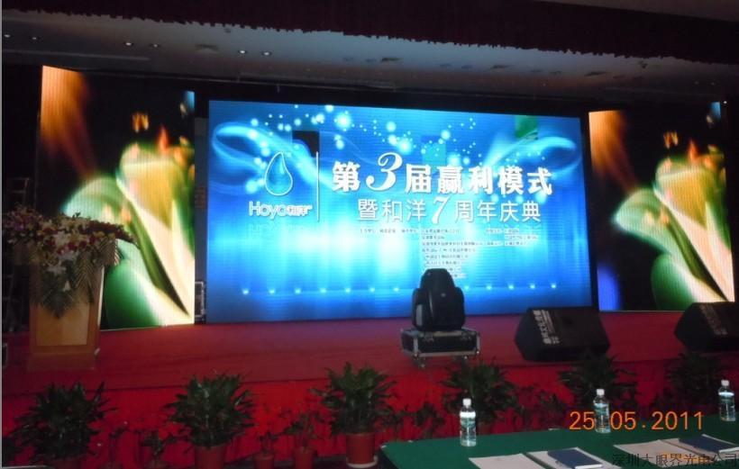 舞台背景墙,高清彩幕led显示屏