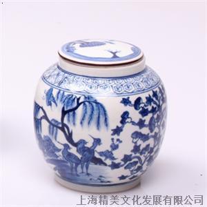 青花瓷 现代 茶叶/