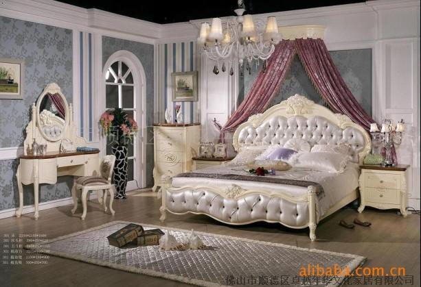 厂家直销欧式白色床法式白色床白色实木家具