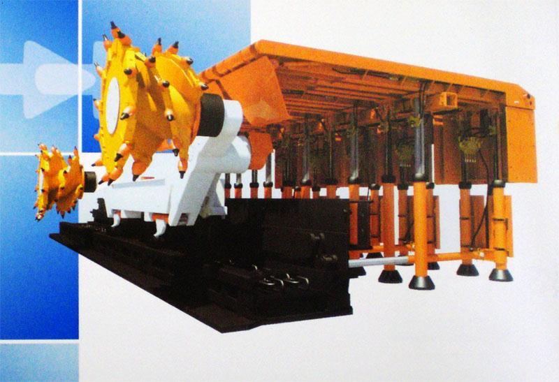 整体顶梁组合悬移壁式机采液压支架图片