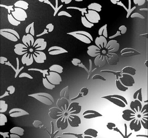 >黑色花纹不锈钢蚀刻板