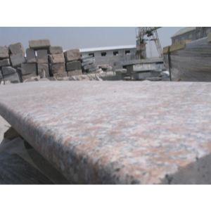 五莲红 压顶石 ,五莲红蘑菇石,五莲石材楼梯踏