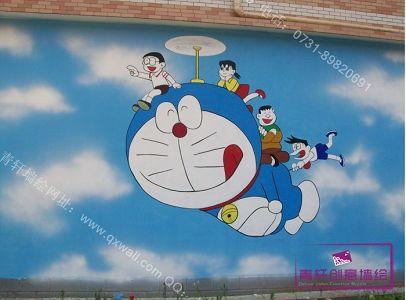 长沙幼儿园手绘墙案例