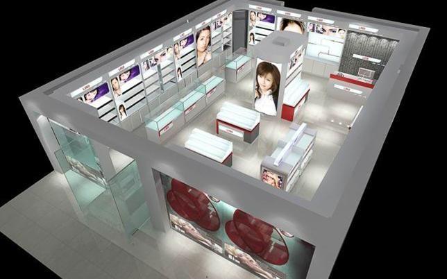 化妆品展台展柜