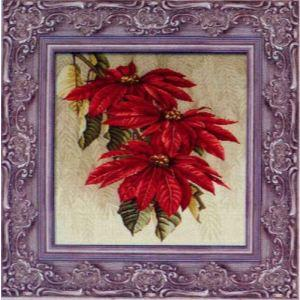 手绘红叶白桦画框图