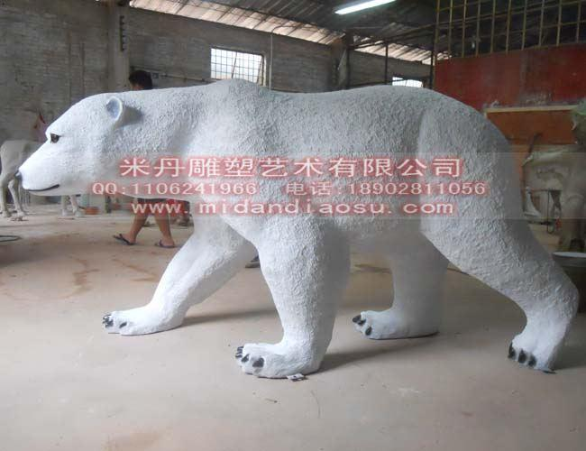 北极熊雕塑模型动物雕塑模型动物模型动物园