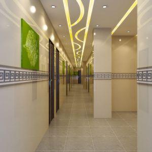 手绘宾馆走廊设计