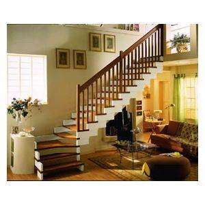 家用木楼梯|别墅实木楼梯|定做实木楼梯13512403180