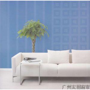 欧式淡蓝色卧室墙布