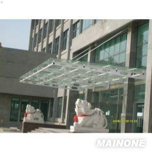 [热销]苏州轻钢雨棚 彩钢瓦雨棚 膜结构 瓦楞板雨棚 夹胶玻璃雨棚工程