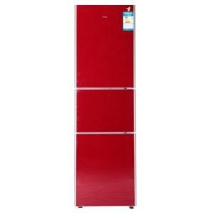 海尔三门冰箱bcd 216scm 酒红 河南威铭科技有限公司 高清图片