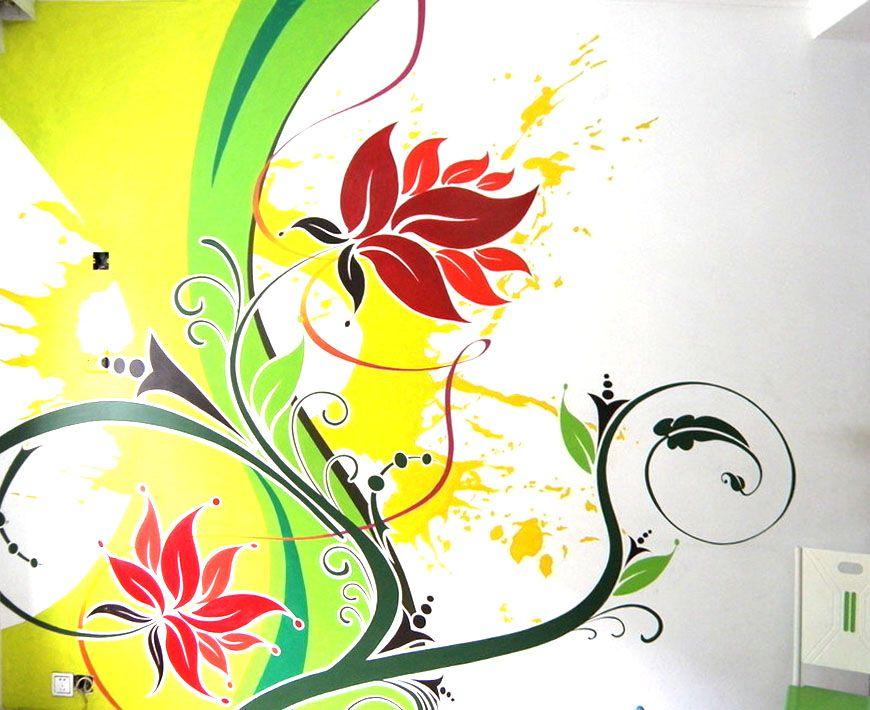 手绘墙画的位置主要有以下几种情况:一种是选择一面比较主要的墙面