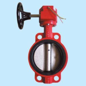 消防蜗轮信号蝶阀图片