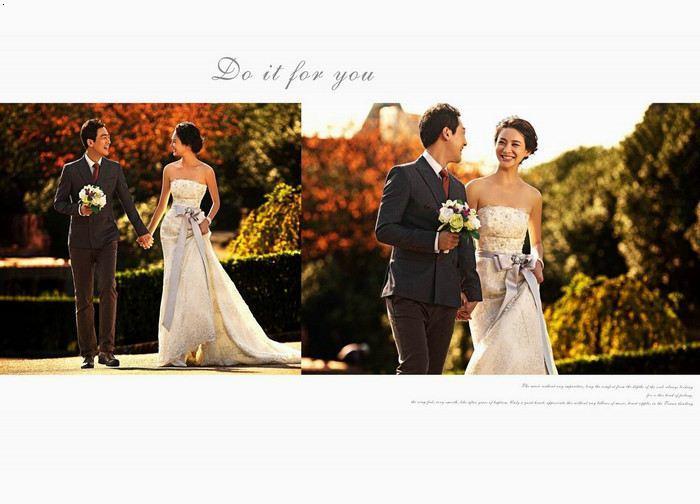 天津韩式婚纱摄影巴黎春天logo腰带献礼型格新郎