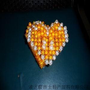 批发供应水晶手工串珠编织首饰盒 心形 亚克力水晶