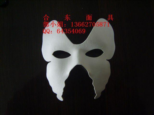 供应蝴蝶面具,儿童面具,手绘面具,白色面具