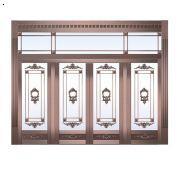 唐山玻璃铜门价格,唐山玻璃铜门哪家好,玻璃铜门的样式