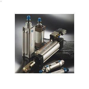 一控2双压气缸怎么会一个动一个不动,用一个电磁阀控制一根气管,然后图片