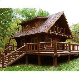 产品首页 建筑,建材 木质材料 原木 精美别墅