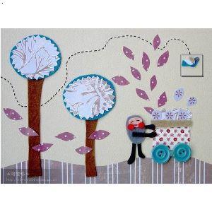 幼儿园海绵纸贴画 幼儿园贴画 幼儿园手工剪纸贴画