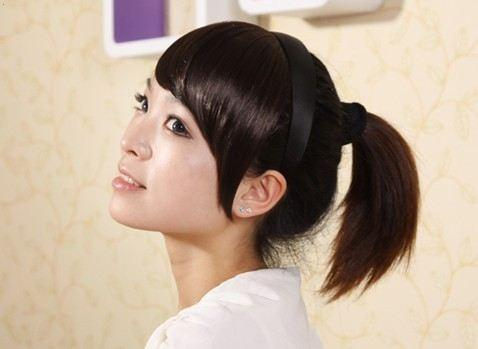 假发刘海 带耳发 鬓角留海 发箍式 齐刘海 假刘海发片