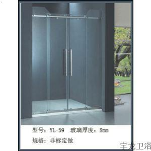 洗 手间挡水门,洗手间玻璃挡水门,浴室吊趟门 卫生间吊 趟高清图片