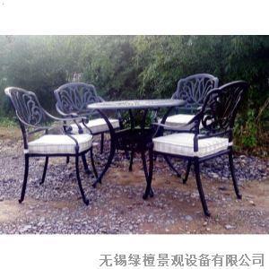 无锡防腐木户外休闲桌椅设计