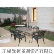 无锡防腐木公园桌椅设计