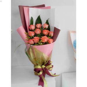 暂无 产品包装: 暂无 货品运输: 暂无 关 键 词: 11支粉玫瑰鲜花花束