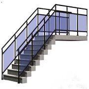 重庆楼梯扶手,锌钢栏杆,夹玻璃栏杆