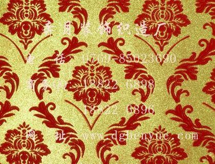 植绒墙布欧式大花墙布豪华大气壁布