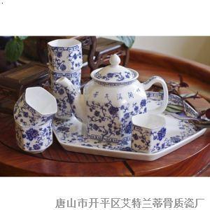 8头六方茶具 青花缘