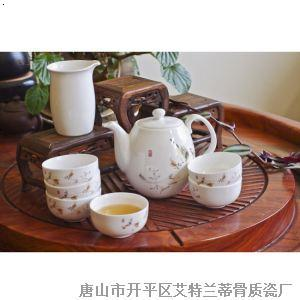 6头平顶茶具 翠鸟鸣春