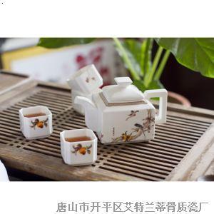 7头方形世博茶具 秋色宜人
