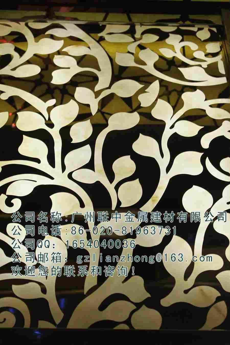 不锈钢激光镂空花纹镂空板图案钢板