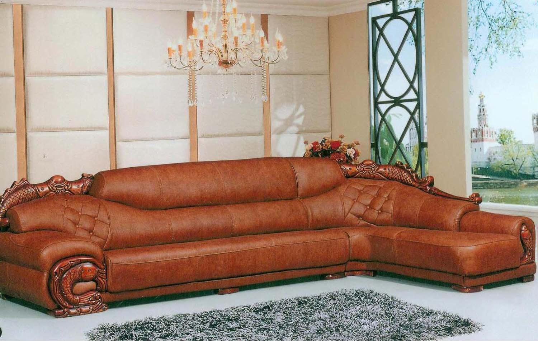 真皮木雕转角沙发图价