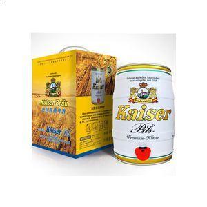 低价批发德国凯撒皮尔森啤酒黄啤5l手提礼盒装 qq:479329512
