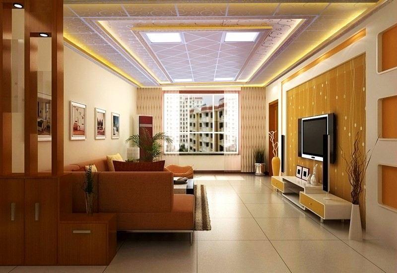 厂家直销欧式卧室二级吊顶铝梁装饰效果图