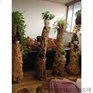 根雕花架 枣木花架 实木花架 家居摆件 工艺品 礼品