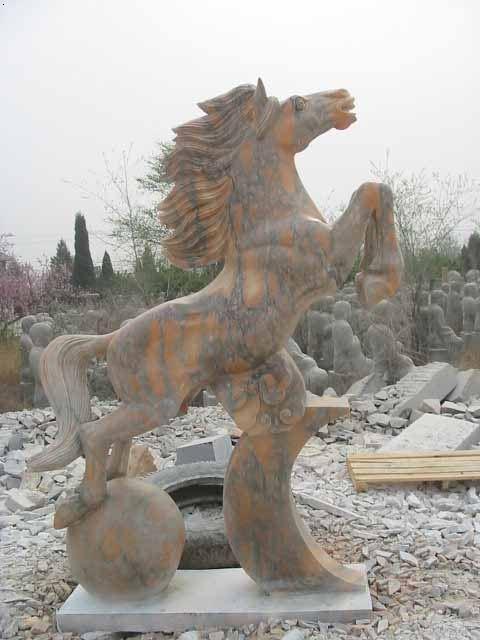 生肖动物雕塑,石雕狼,精美动物雕刻