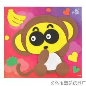 十二生肖 贴画儿童环保 拼贴画 义乌市黑妞玩具