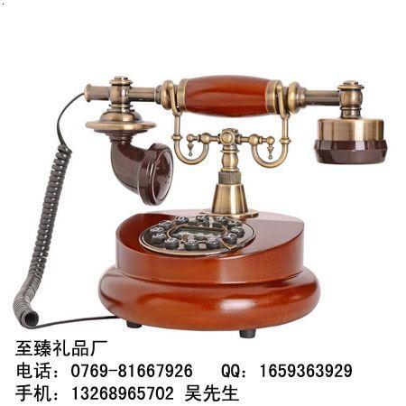 橡木古董欧式仿古电话机