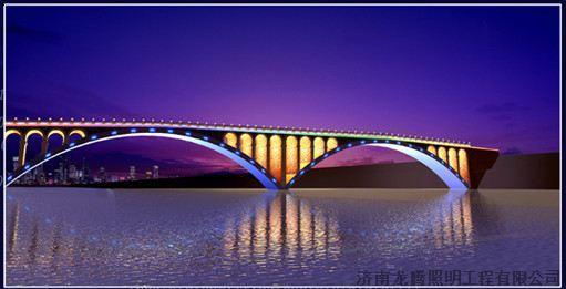 桥梁灯光效果图