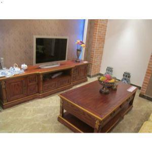 广州利马衣柜供应实木茶几电视柜