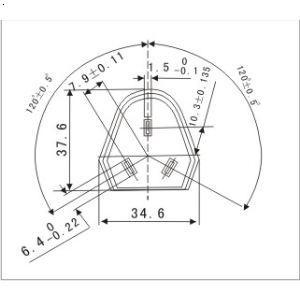 亿晟国标10a三角插头电源线