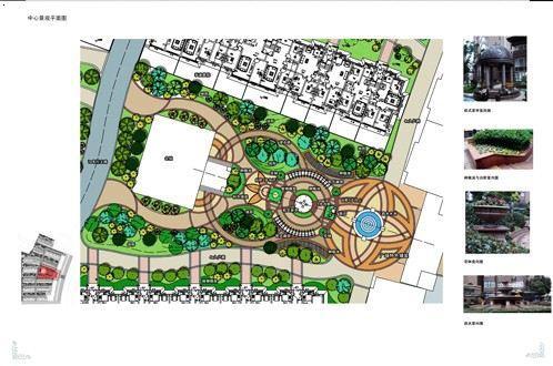 校园广场绿化设计平面图