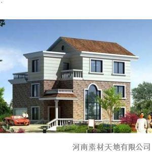 【三层别墅设计图纸 新型带露台农村住宅图纸自建房